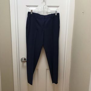 Theory Blue Cropped Suit Pants